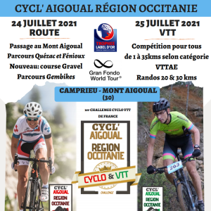 Cyclo'Aigual Challenge, July 24-25 2021 - REGISTER NOW!